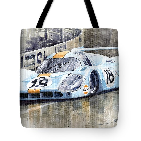 Porsche 917 Lh 24 Le Mans 1971 Rodriguez Oliver Tote Bag by Yuriy  Shevchuk