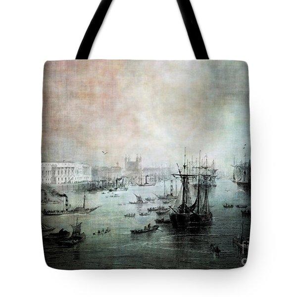 Port Of London - Circa 1840 Tote Bag by Lianne Schneider