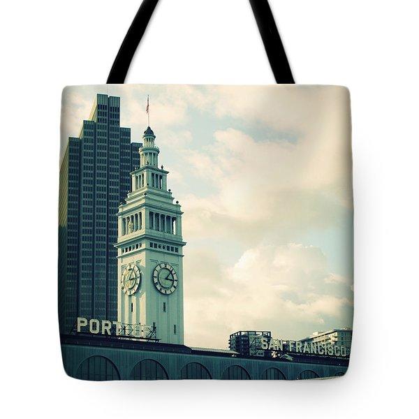 Port of San Francisco Tote Bag by Linda Woods