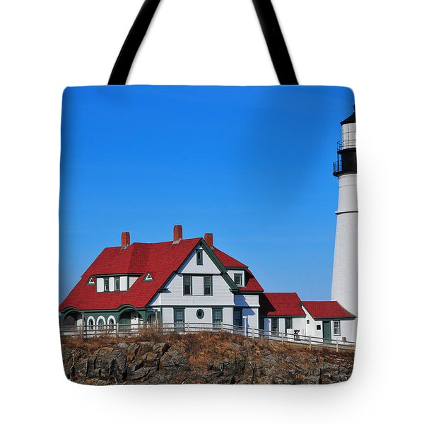 Portland Head Light Tote Bag by Catherine Reusch  Daley