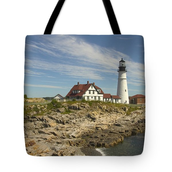 Portland Head Lighthouse Tote Bag by Mike McGlothlen