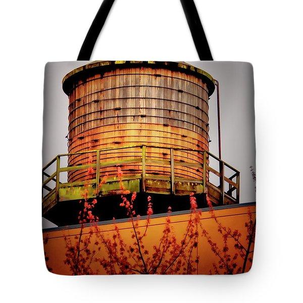 Portland Water Tower IIi Tote Bag by Albert Seger