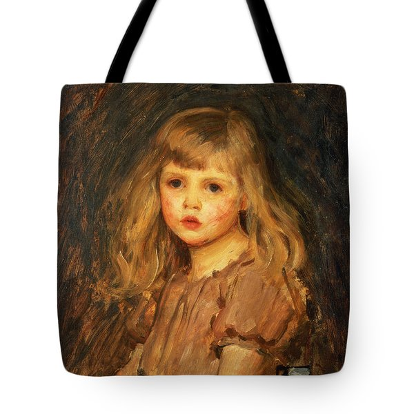 Portrait Of A Girl Tote Bag by John William Waterhouse