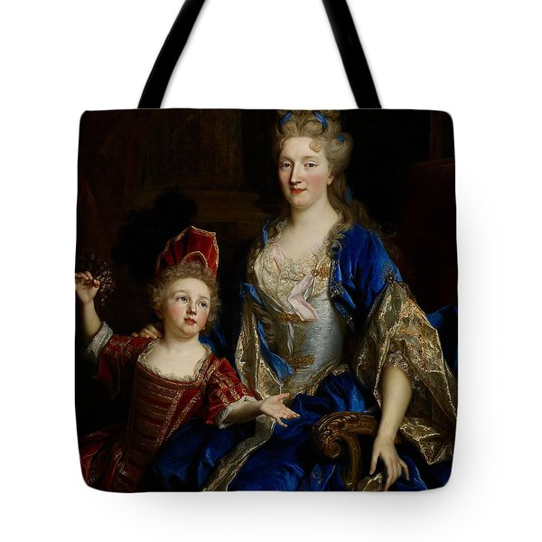 Portrait Of Catherine Coustard Tote Bag by Nicolas de Largilliere