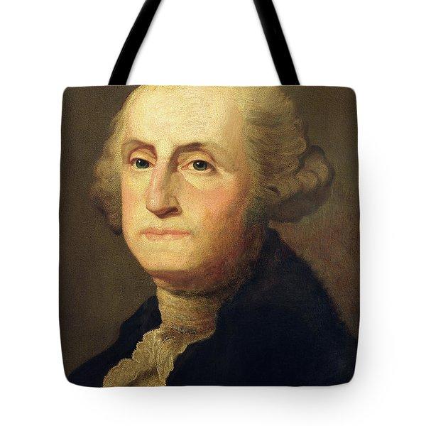 Portrait Of George Washington Tote Bag by Gilbert Stuart
