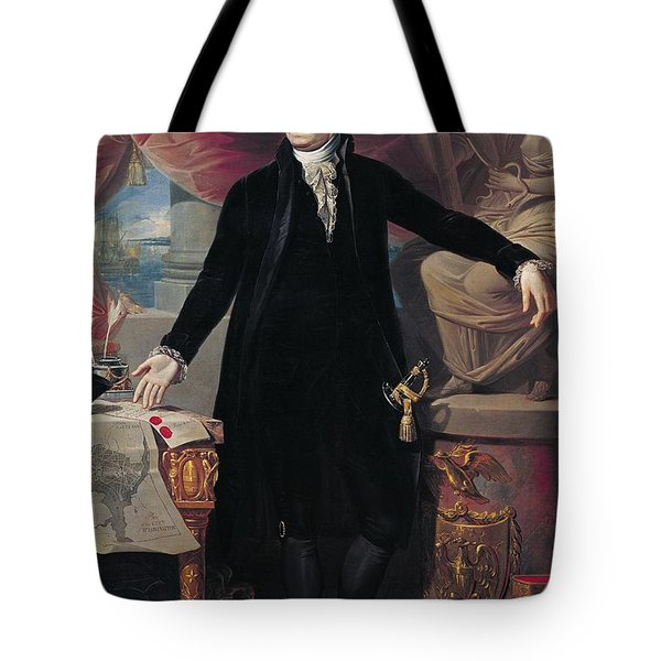 Portrait Of George Washington Tote Bag by Joes Perovani