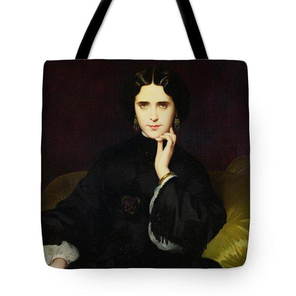 Portrait Of Jeanne De Tourbay Tote Bag by Eugene Emmanuel Amaury-Duval