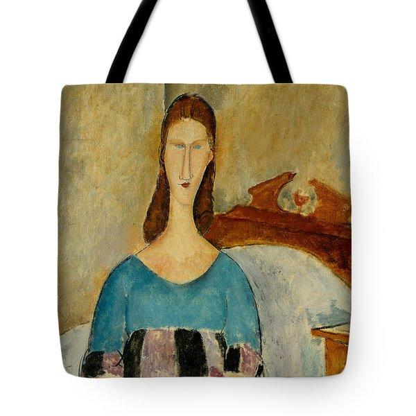 Portrait of Jeanne Hebuterne Tote Bag by Amedeo Modigliani