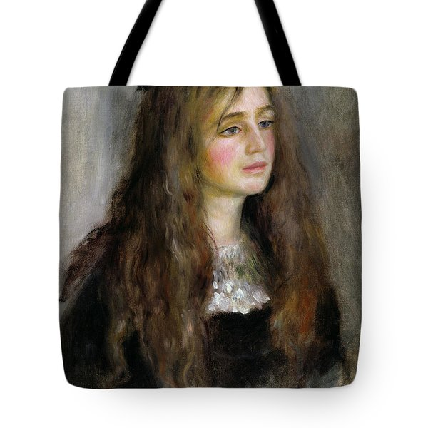 Portrait Of Julie Manet  Tote Bag by Pierre Auguste Renoir