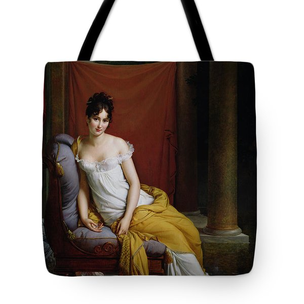 Portrait Of Madame Recamier Tote Bag by Francois Pascal Simon Gerard