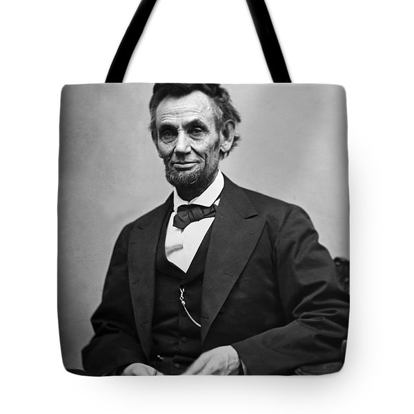 Portrait Of President Abraham Lincoln Tote Bag by International  Images
