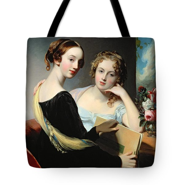 Portrait Of The Mceuen Sisters Tote Bag by Thomas Sully
