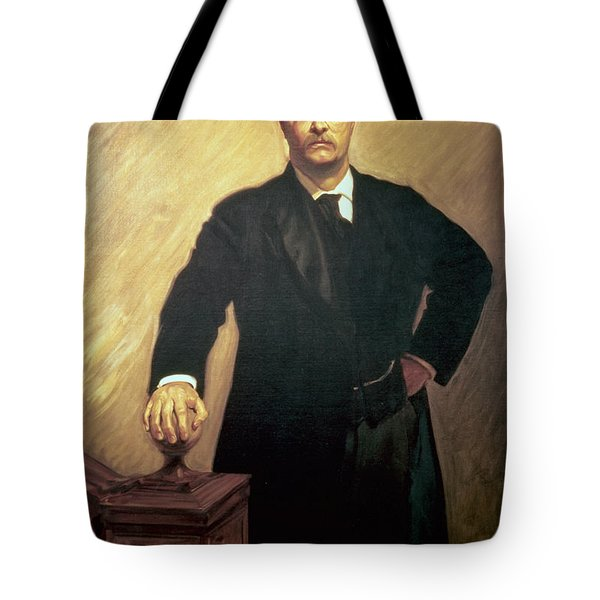 Portrait Of Theodore Roosevelt Tote Bag by John Singer Sargent
