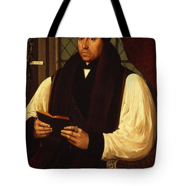 Portrait Of Thomas Cranmer Tote Bag by Gerlach Flicke