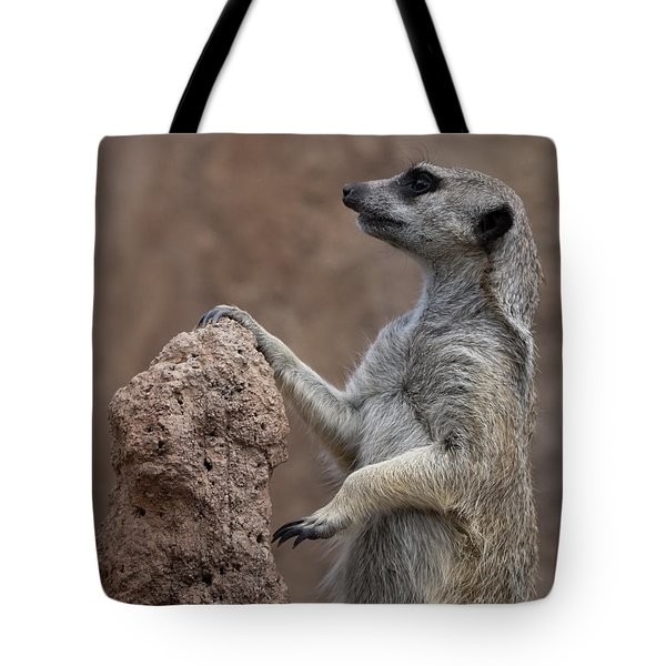 Pose Of The Meerkat Tote Bag by Ernie Echols