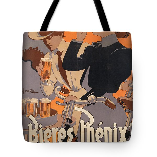Poster Advertising Phenix Beer Tote Bag by Adolf Hohenstein