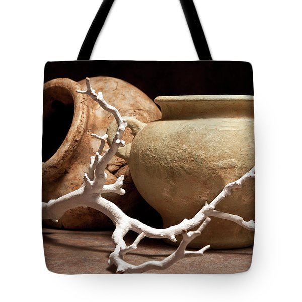 Pottery With Branch II Tote Bag by Tom Mc Nemar