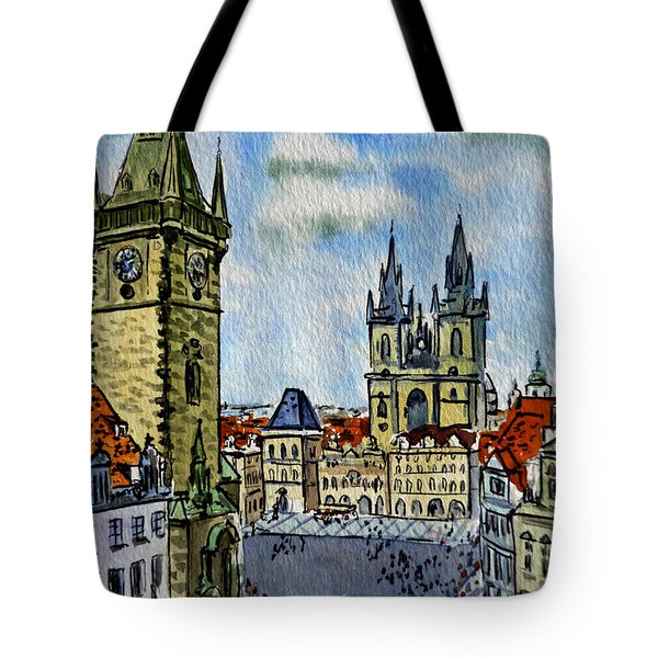 Prague Czech Republic Tote Bag by Irina Sztukowski
