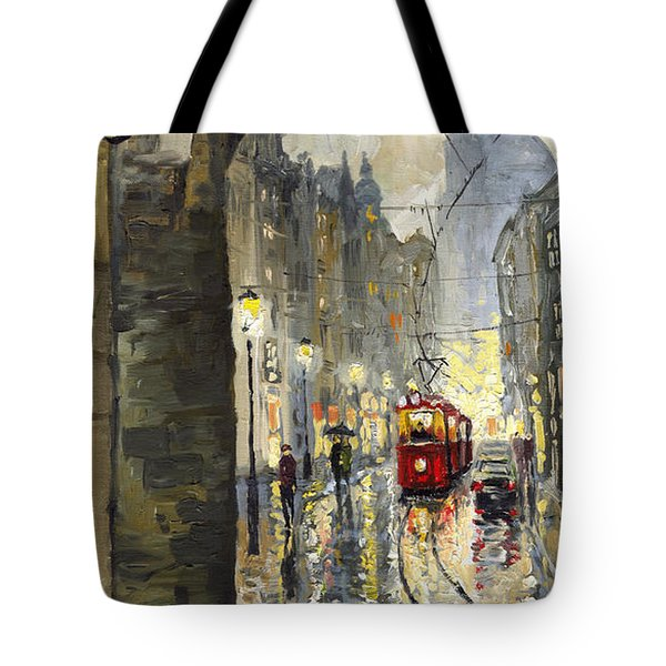 Prague Mostecka street Tote Bag by Yuriy  Shevchuk