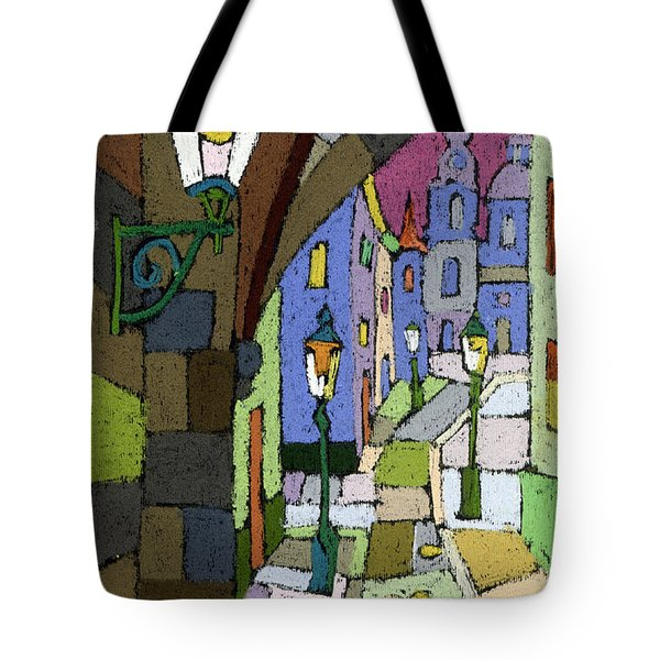 Prague Old Street Mostecka Tote Bag by Yuriy  Shevchuk