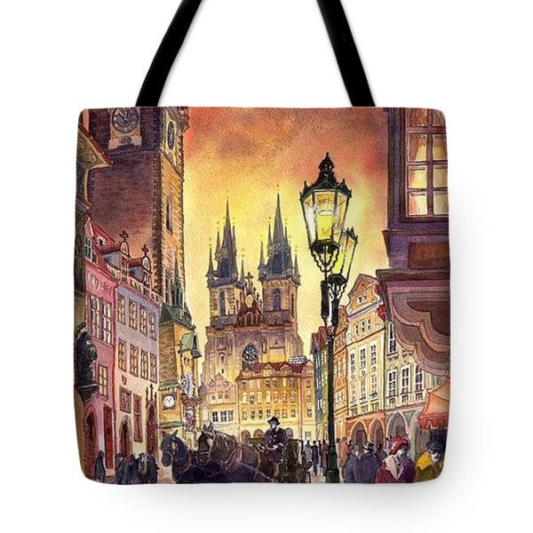 Prague Old Town Squere Tote Bag by Yuriy  Shevchuk