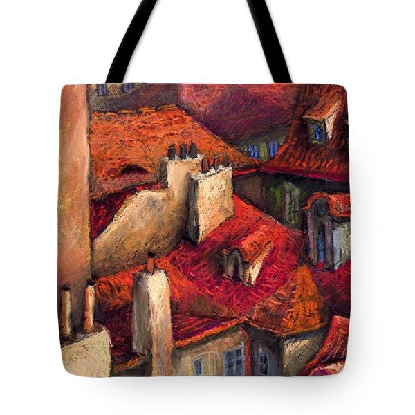 Prague Roofs Tote Bag by Yuriy  Shevchuk
