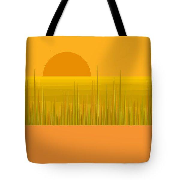 Prairie  Sundown Tote Bag by Val Arie