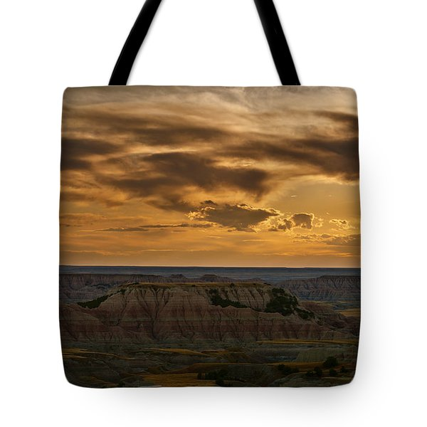 Prairie Wind Overlook Badlands South Dakota Tote Bag by Steve Gadomski