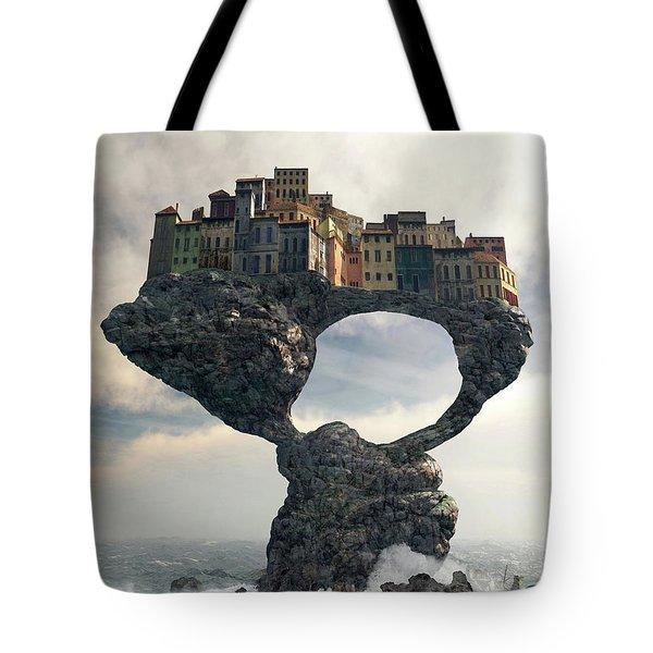 Precarious Tote Bag by Cynthia Decker