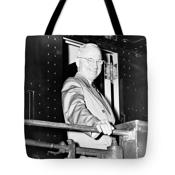 President Harry Truman Tote Bag by War Is Hell Store