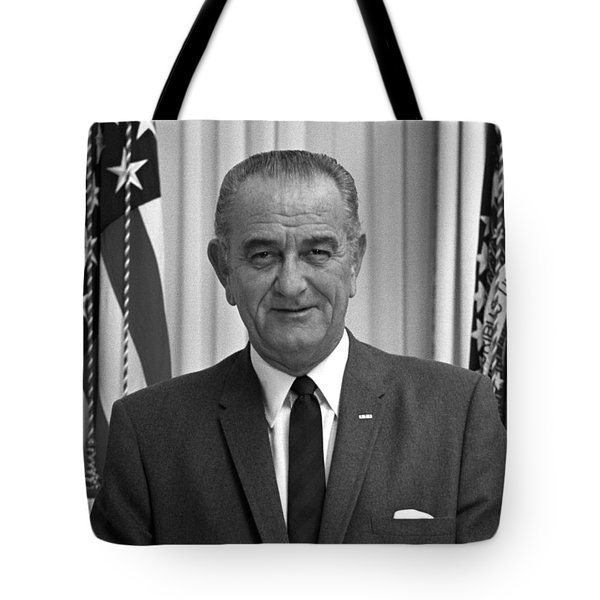 President Lyndon Johnson Tote Bag by War Is Hell Store