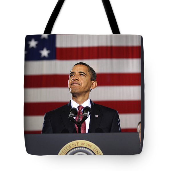 President Obama Tote Bag by War Is Hell Store