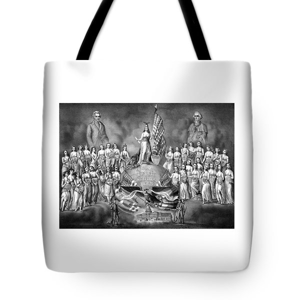 Presidents Washington and Jackson Tote Bag by War Is Hell Store
