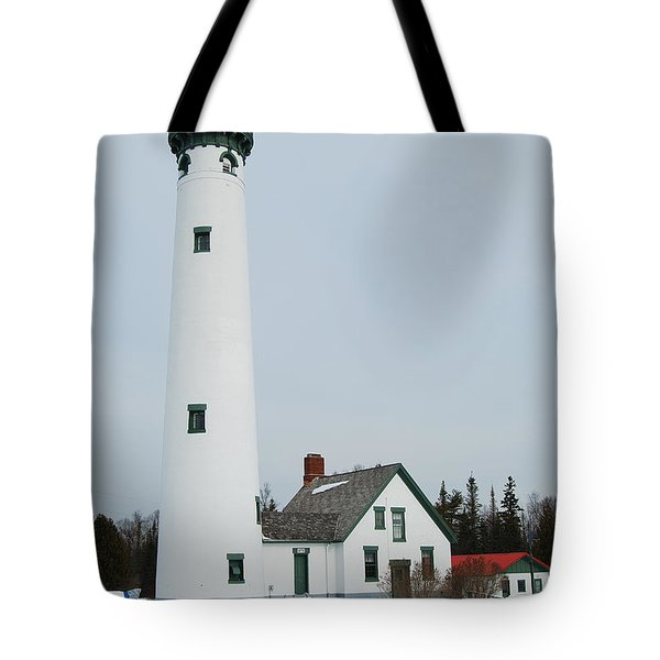 Presque Isle Lighthouse Tote Bag by Michael Peychich