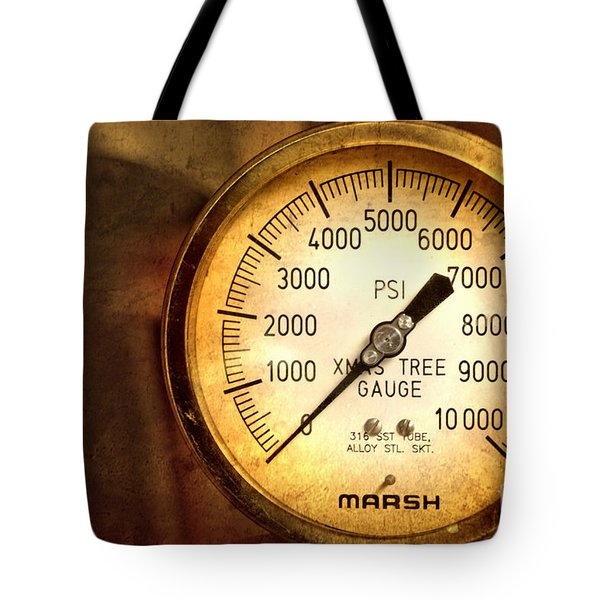 Pressure Gauge Tote Bag by Charuhas Images