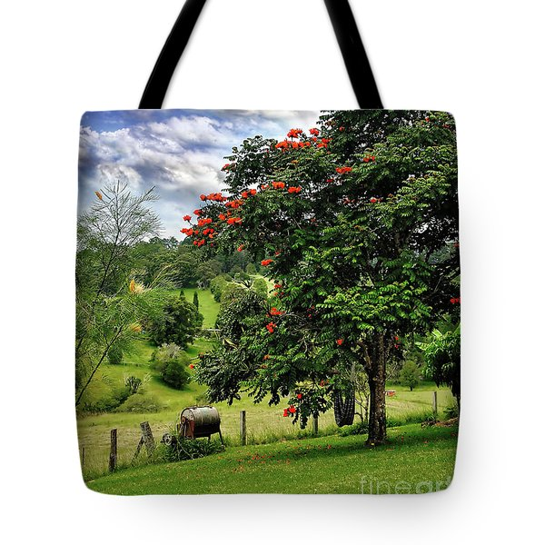 Pretty Countryside Tote Bag by Kaye Menner