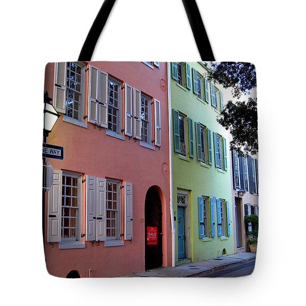 Pretty Lane in Charleston Tote Bag by Susanne Van Hulst
