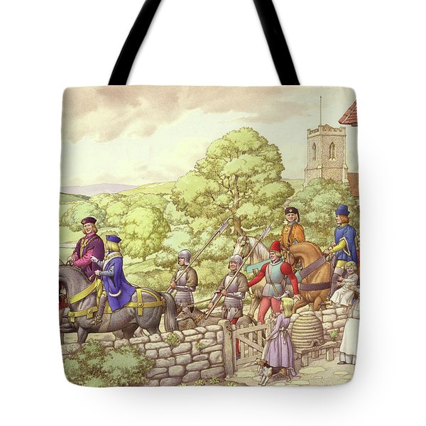 Prince Edward Riding From Ludlow To London Tote Bag by Pat Nicolle