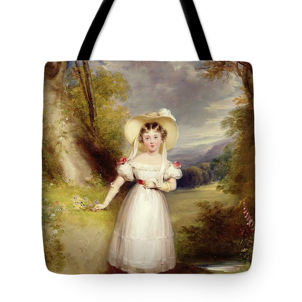 Princess Victoria Aged Nine Tote Bag by Stephen Catterson the Elder Smith