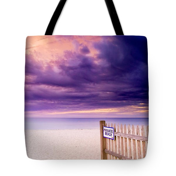 Private Beach Cape Cod Tote Bag by Matt Suess