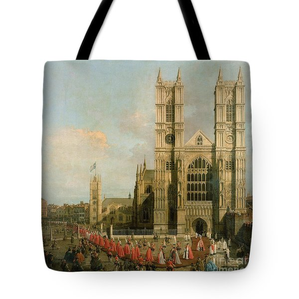 Procession Of The Knights Of The Bath Tote Bag by Canaletto