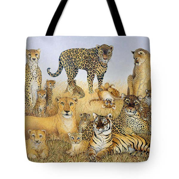 The Big Cats Tote Bag by Pat Scott