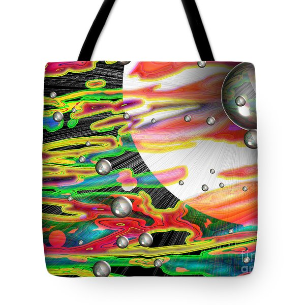 Psychedelic Planetary Journey Tote Bag by Roxy Riou