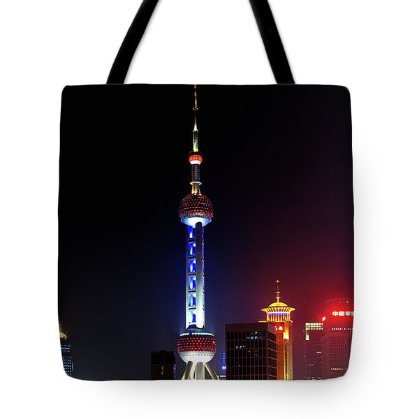 Pudong New District Shanghai - Bigger Higher Faster Tote Bag by Christine Till
