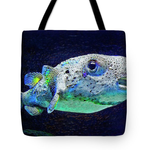 Puffer Fish Tote Bag by Jane Schnetlage