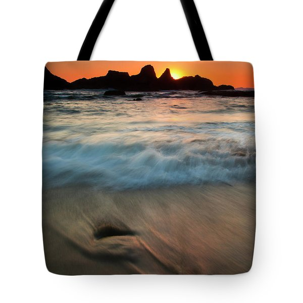 Pulled by the Tides Tote Bag by Mike  Dawson