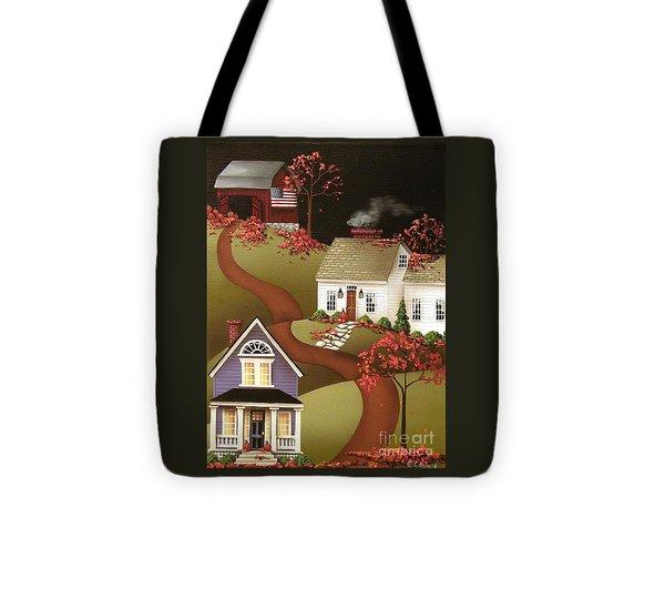 Pumpkin Harvest In Mapleton  Tote Bag by Catherine Holman