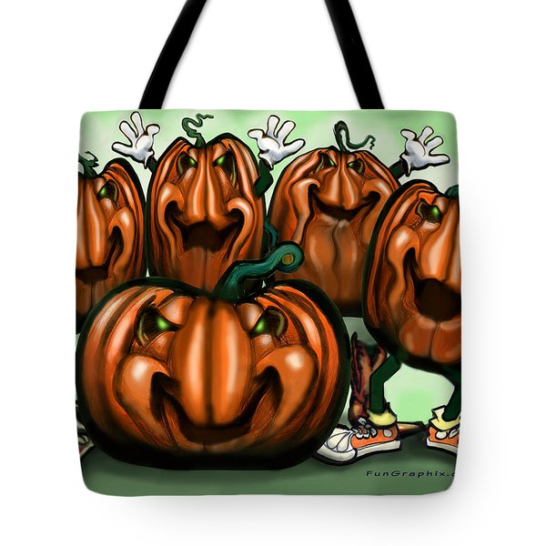 Pumpkin Party Tote Bag by Kevin Middleton