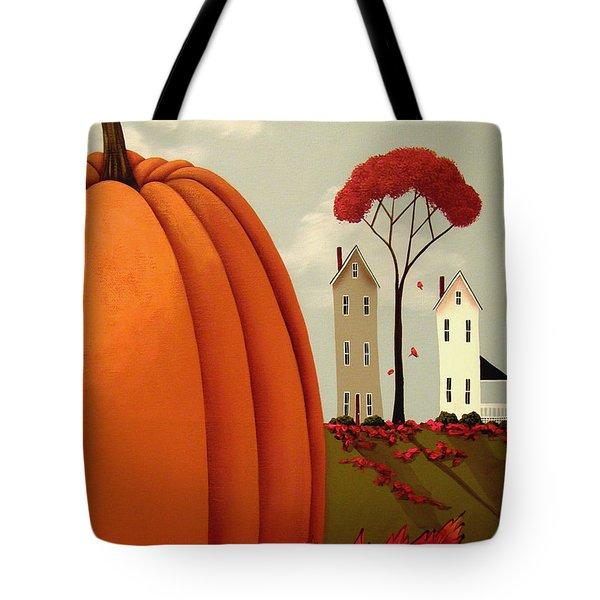 Pumpkin Valley Tote Bag by Catherine Holman