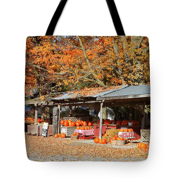 Pumpkins For Sale Tote Bag by Louise Heusinkveld